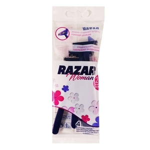 Купить Бритва одноразовая, женская «RAZAR», 4 шт. в Омске, в магазине Лидер-Март, ЛидерМарт