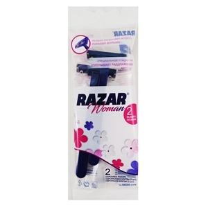 Купить Бритва одноразовая, женская «RAZAR», 2 шт. в Омске, в магазине Лидер-Март, ЛидерМарт