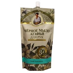 Купить Мыло жидкое для рук «Травы и сборы Агафьи» - Черное, 500 мл в Омске, в магазине Лидер-Март, ЛидерМарт