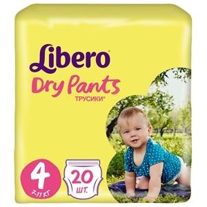 Купить Трусики детские «Libero» - Dry Pants Size 4 (7-11кг), 20 шт. в Омске, в магазине Лидер-Март, ЛидерМарт