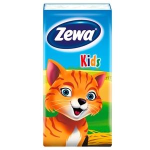Купить Платки носовые детские «Zewa» - Kids, 3 слоя, 10 шт. в Омске, в магазине Лидер-Март, ЛидерМарт