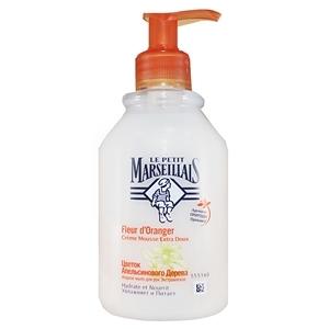 Купить Мыло жидкое для рук «Le Petit Marseillais» - Экстрамягкое, цветок апельсинового дерева, 300 мл в Омске, в магазине Лидер-Март, ЛидерМарт
