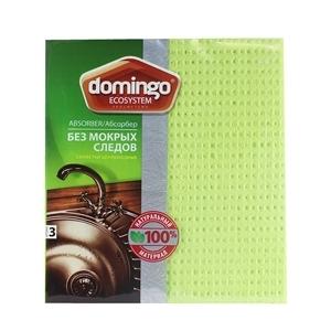Купить Салфетки целлюлозные «Domingo» - Ecosystem, 3 шт. в Омске, в магазине Лидер-Март, ЛидерМарт