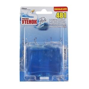 Купить Римблок подвесной для туалета «Туалетный Утенок» - Морской, 4 в 1, запасной, 55 мл в Омске, в магазине Лидер-Март, ЛидерМарт