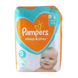 Купить Подгузники детские 6-10 кг «Pampers» - Sleep&Play midi, 16 шт. в Омске, в магазине Лидер-Март, ЛидерМарт