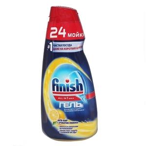 Купить Гель для мытья в посудомоечной машине «Finish» - Все в 1 мах Лимон, 600 мл в Омске, в магазине Лидер-Март, ЛидерМарт