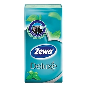 Купить Платки носовые «Zewa» - Deluxe, ментол, 10 шт. в Омске, в магазине Лидер-Март, ЛидерМарт