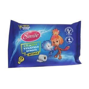 Купить Бумага влажная туалетная для детей «Smile» - 44шт в Омске, в магазине Лидер-Март, ЛидерМарт