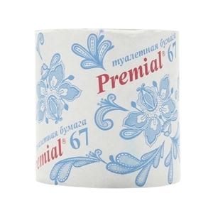 Купить Бумага туалетная, однослойная «Premial», 1 шт. в Омске, в магазине Лидер-Март, ЛидерМарт