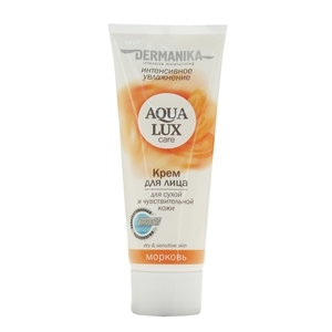 Купить Крем для лица для сухой кожи «Dermanica» - Aqua Lux, морковь, 75 мл в Омске, в магазине Лидер-Март, ЛидерМарт