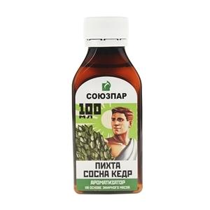 Купить Ароматизатор на основе эфирных масел «Союзпар» - Пихта, сосна, кедр, 100 мл в Омске, в магазине Лидер-Март, ЛидерМарт