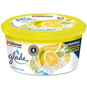 Купить Освежитеь воздуха (мини-гель) «Glade» - Цитрусовый, 70 г в Омске, в магазине Лидер-Март, ЛидерМарт