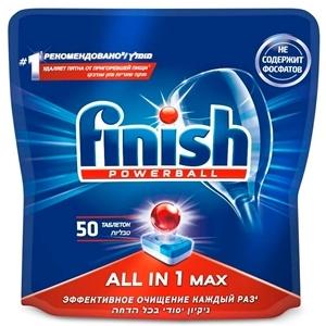 Купить Таблетки для посудомоечных машин «Finish» - все в 1, 50 шт. в Омске, в магазине Лидер-Март, ЛидерМарт