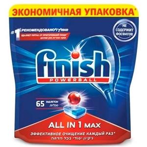 Купить Таблетки для Посудомоечной Машины «FINISH» - все в 1 Мах, 65 шт. в Омске, в магазине Лидер-Март, ЛидерМарт
