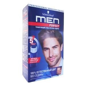 Купить Гель тонирующий для волос «Men Perfect» - Против седины, 60 в Омске, в магазине Лидер-Март, ЛидерМарт
