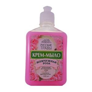 Купить Крем-мыло жидкое «Русские травы» - Жемчужная роза, 300 мл в Омске, в магазине Лидер-Март, ЛидерМарт