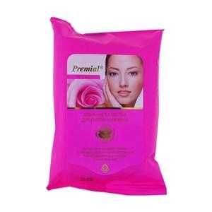 Купить Салфетки влажные для снятия макияжа «Premial» - Экстракт розы и кератин, 20 шт. в Омске, в магазине Лидер-Март, ЛидерМарт
