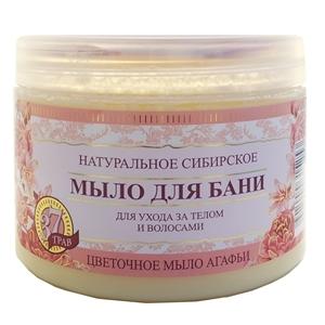 Купить Мыло жидкое для бани «Травы и сборы Агафьи» - Цветочное, расслабляющее, 500 мл в Омске, в магазине Лидер-Март, ЛидерМарт