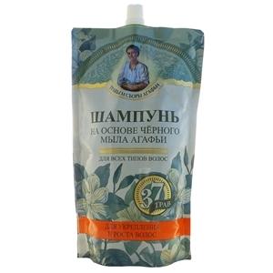 Купить Шампунь увлажняющий для всех типов волос «Травы и сборы Агафьи» - На основе черного мыла, 500 мл в Омске, в магазине Лидер-Март, ЛидерМарт