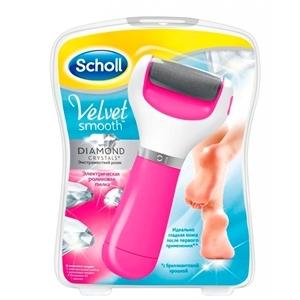Купить Пилка электрическая для ног «Scholl» - С бриллиантовой крошкой, розовая, 1 шт. в Омске, в магазине Лидер-Март, ЛидерМарт