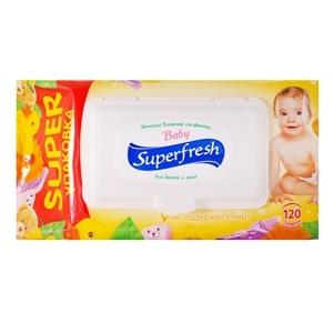 Купить Салфетки влажные «Superfresh» - Для детей и мам, с экстрактом календулы, 120 шт. в Омске, в магазине Лидер-Март, ЛидерМарт