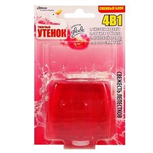 Купить Римблок подвесной для туалета «Туалетный Утенок» - Свежесть лепестков, 4 в 1, запасной, 55 мл в Омске, в магазине Лидер-Март, ЛидерМарт