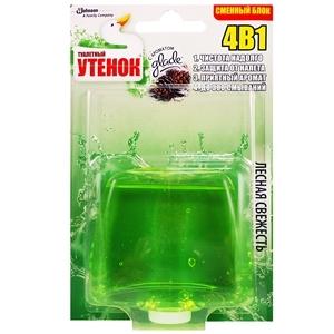 Купить Римблок подвесной для туалета «Туалетный Утенок» - Лесная свежесть, 4 в 1, запасной, 55 мл в Омске, в магазине Лидер-Март, ЛидерМарт