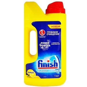 Купить Порошок для посудомоечных машин «Finish» - Power Powder, Classic, лимон, 1 кг в Омске, в магазине Лидер-Март, ЛидерМарт