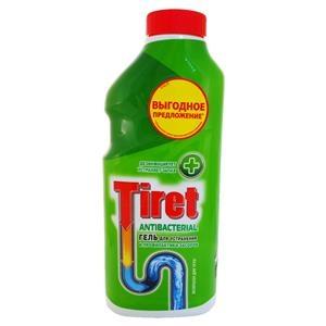 Купить Гель антибактериальный для растворения загрязнений канализационных труб «Tiret», 500 мл в Омске, в магазине Лидер-Март, ЛидерМарт